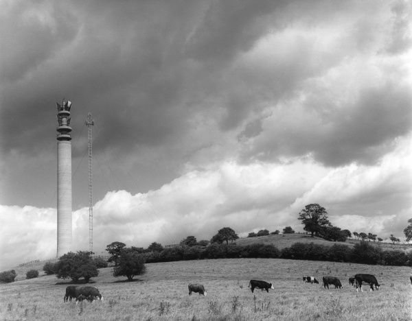 The G.P,O. Communications Tower, near Charwelton, Northamptonshire, England. Date: 1960s