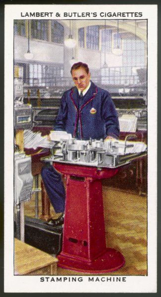 The General Post Office, postmark stamping machine