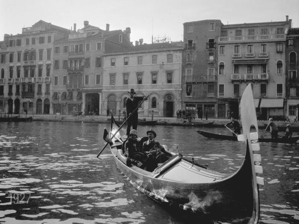 Grand Canal, Venice, Italy 1920s. Date: 1927