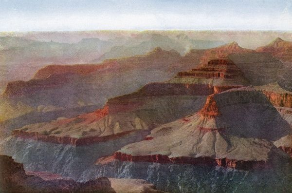 The Grand Canyon of the Colorado River, Arizona, - the sunset seen from Hopi Point Date: 1923