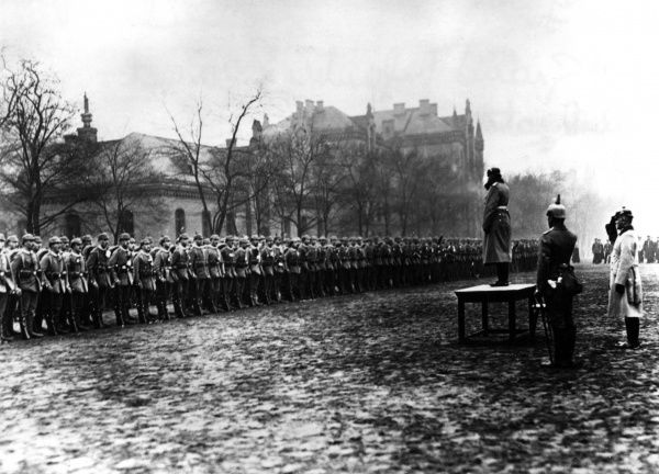 Mobilisation of the Grand Infantry Regiment in Berlin during the First World War