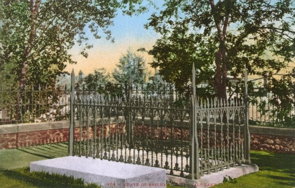 Grave of Brigham Young (1801-1877) - Leader in the Latter Day Saint movement and American settler