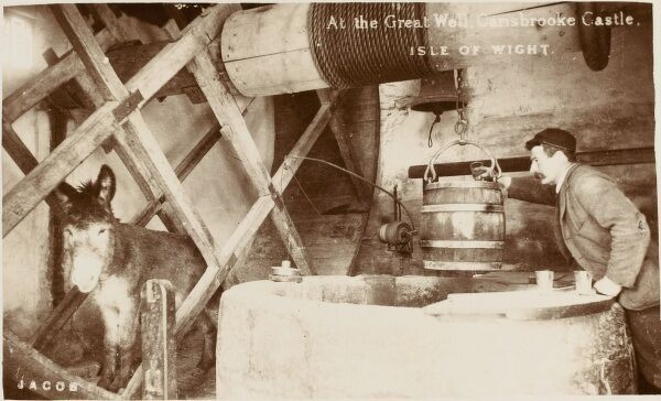 The Great Well at Carisbrooke Castle, Isle of Wight, powered by a donkey in a wheel!
