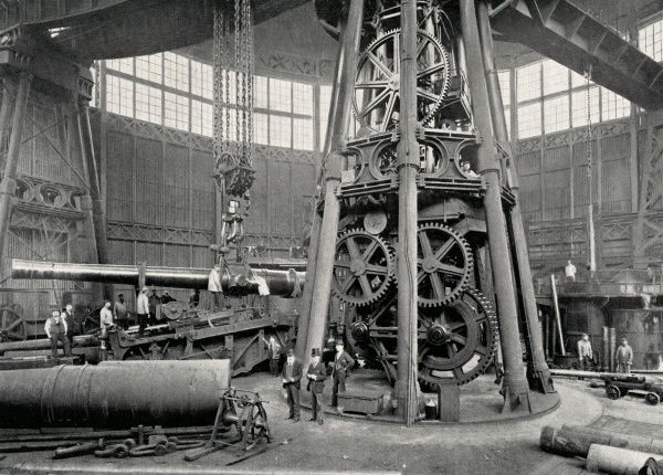 The Great Crane at the Arsenal, Woolwich, south east London, used to lift sections of large guns