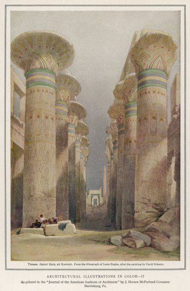 The Great Hall, Karnak with the impressively decorated lotus flower column capitals