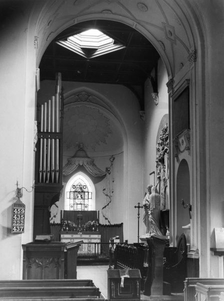 The fine chancel of the church of St. Mary the Virgin, Offley, Hertfordshire, England. Date: Medieval