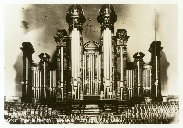 Great Organ in the Mormon Tabernacle - Salt Lake City, Utah, USA. Date: circa 1910s