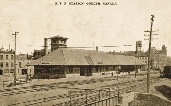 GTR Station, Guelph, Canada. 'GTR' stands for Grand Trunk Railway, a railway system which operated in the Canadian provinces of Quebec and Ontario, as well as the American states of Connecticut, Maine, Massachusetts, New Hampshire,