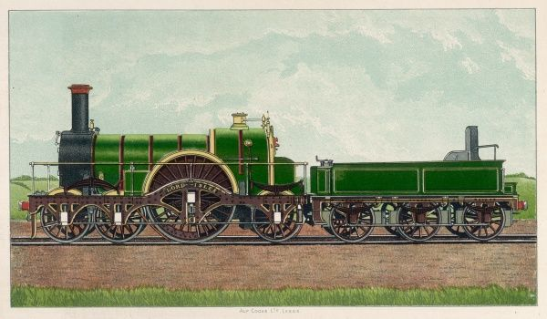 Great Western Railway Broad Gauge Locomotive. Lord of the Isles. Constructed by the Late Sir Daniel Gooch, in 1850, at Swindon Works