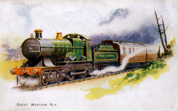 An express train of the Great Western Railway