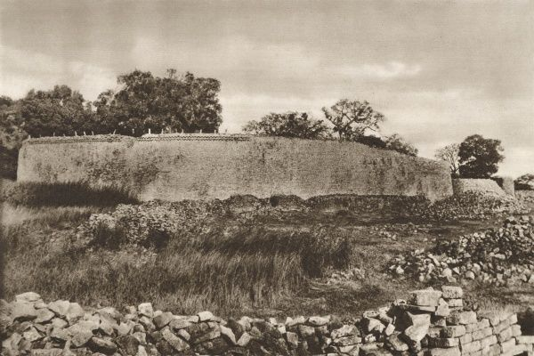 The great wall of the remarkable site of Great Zimbabwe, a testament to the skill of construction and status of the occupants