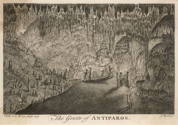 Visitors to the Grotto - a tourist attraction more than two centuries ago