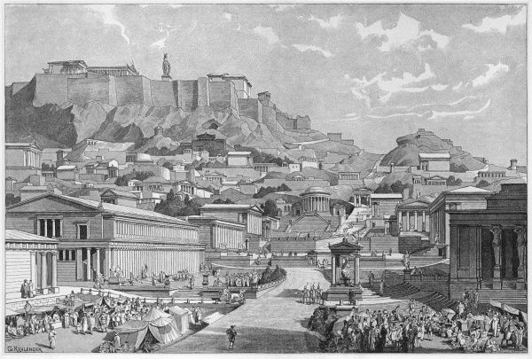 Reconstruction of ancient Athens