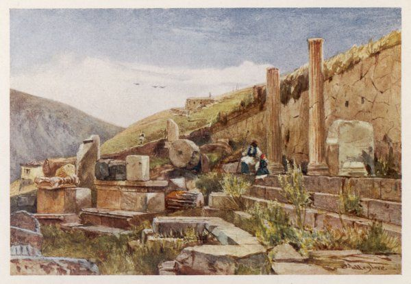 Delphi: portico or stoa of the Athenians
