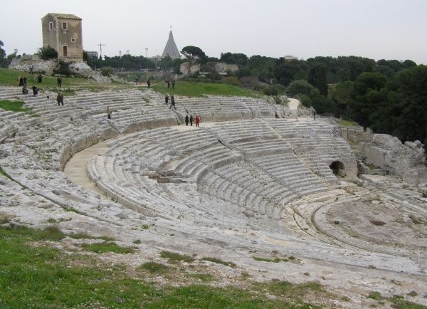 The Greek Theatre, Syracuse, Sicily, Italy