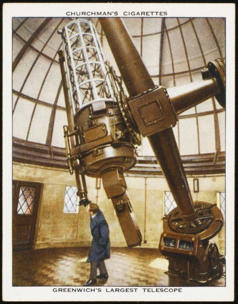 The 91cm reflecting telescope at Greenwich Observatory, south-east London, UK