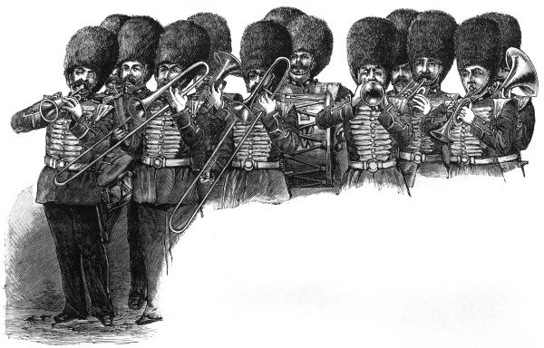 The Grenadier Guards band, c. 1885. c.1885