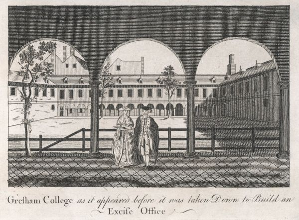 Gresham College as it appeared before it was taken down to build an Excise Office