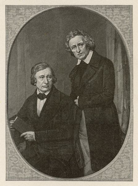 JACOB AND WILHELM GRIMM German folklorists and philologists