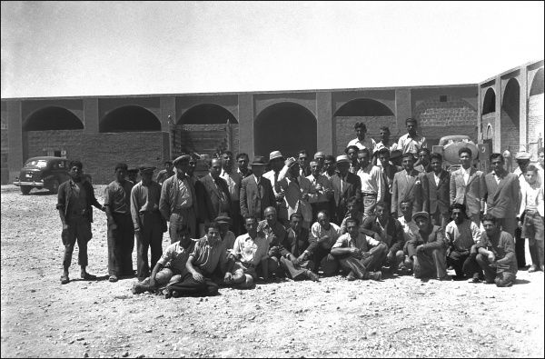 Group photograph of Ralph Ponsonby Watt's associates in the diplomatic Corp in Iran