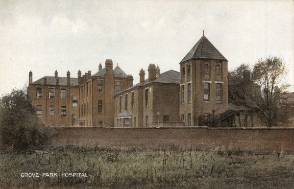 Part of the Grove Park Hospital, Marvels Lane, Lewisham, south east London. The buildings, designed by T & J Norman Dinwiddy, were erected in 1899-1902 as a workhouse for the Greenwich Union. The buildings shown were originally the aged females