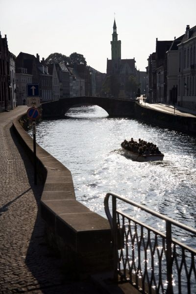 The Gruuthuse and the canals in Bruges, Belgium  circa 2008