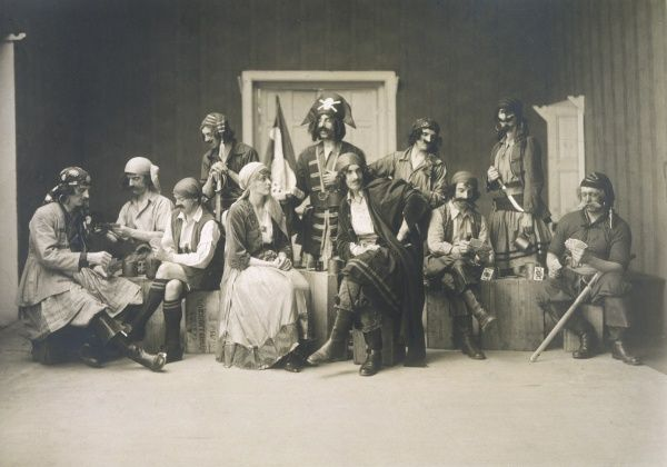 'Pour, oh pour the pirate sherry...' the pirates as portrayed in an amateur production by the British community at Simla, India