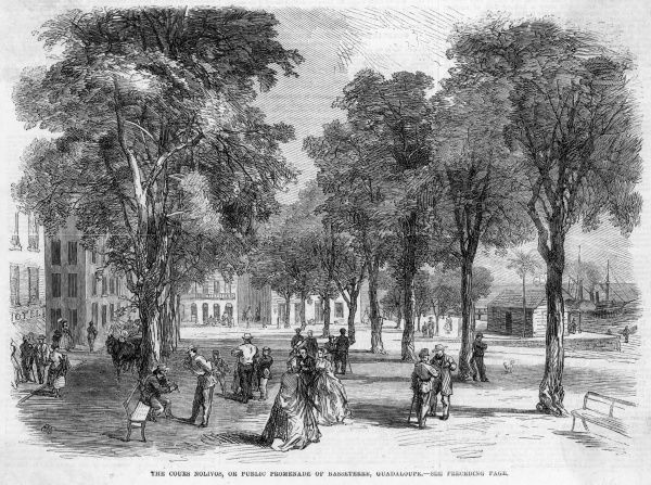 The Cours Nolivos, or public promenade. Date: 1865