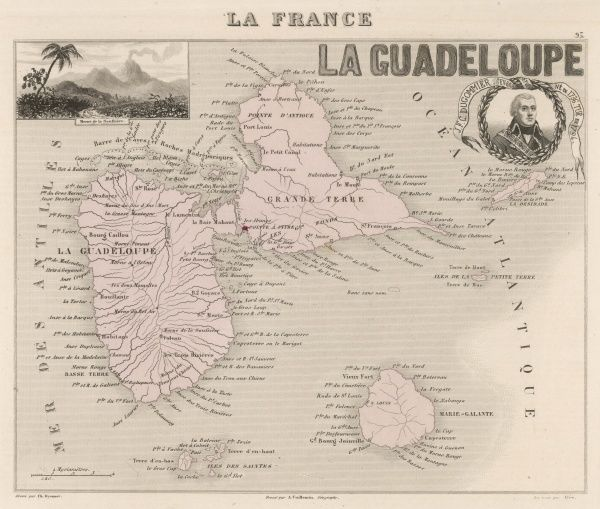 The two main islands, Guadeloupe and Grande Terre, are separated by a narrow channel : they were discovered by Columbus in 1493