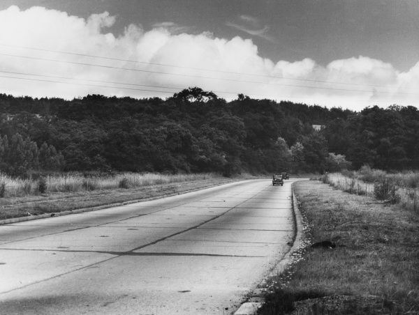 An early photograph of Guildford By-Pass, Surrey, England, with virtually no traffic on it at all