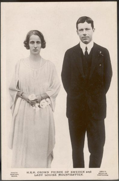 GUSTAV VI as Crown Prince King of Sweden (1950-73) with his second wife Louise of Battenberg (1889-1965)