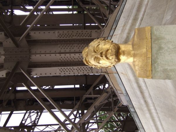 GUSTAVE EIFFEL Bust of the French engineer which sits below the tower baring his name