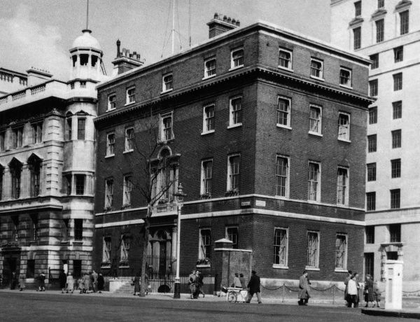Gwydyr House, Whitehall, London, was built c. 1796 for Lord Gwydyr, Surveyor-General of the Land Revenues. Now a Government building. Date: 1950s