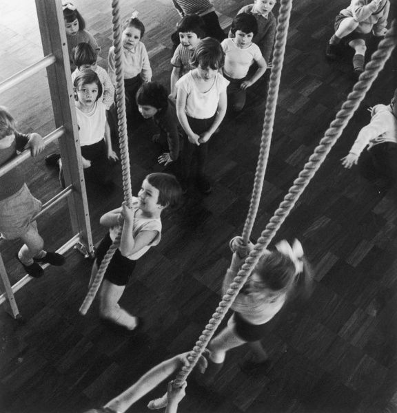Physical Exercise - children attend gym class at Danesfield County Primary School, Buckinghamshire