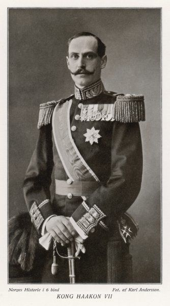 HAAKON VII King of Norway (1905-57); formerly Prince Charles of Denmark, son of Frederick VIII