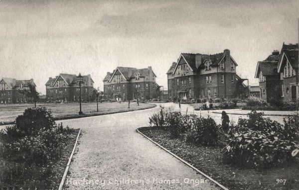 The Hackney Union cottage homes at Ongar, Essex. The homes, opened in 1905, housed pauper children away from the workhouse. The children lived in three-storey 'cottages' each holding 52 boys or girls