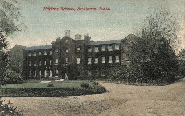 The Hackney Union School at Brentwood, Essex. In 1885 Hackney took over what had been the Brentwood District School, originally set up by the Shoreditch Board of Guardians in 1854 to house pauper children away from the workhouse. From about 1917