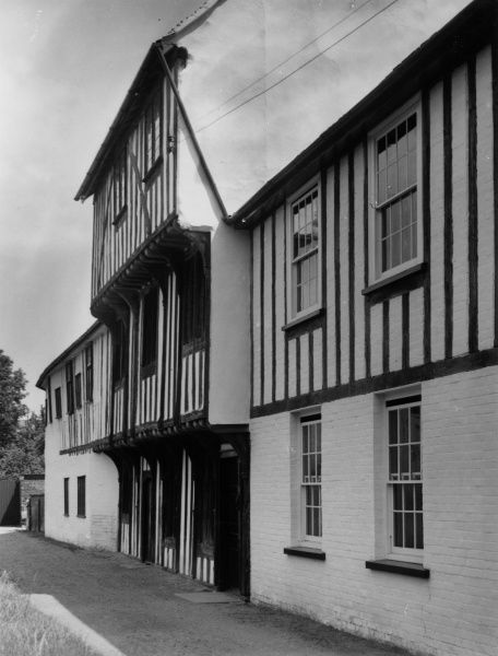 The ancient timber-framed Guild House - or Hall, at Hadleigh, Suffolk, England (After restoration). Date: 15th century