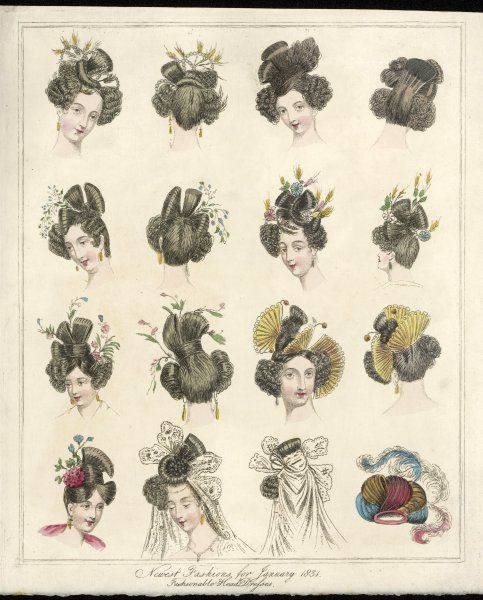 How the well-groomed lady is dressing her hair this year. Evidently designed to keep her maidservant busy !
