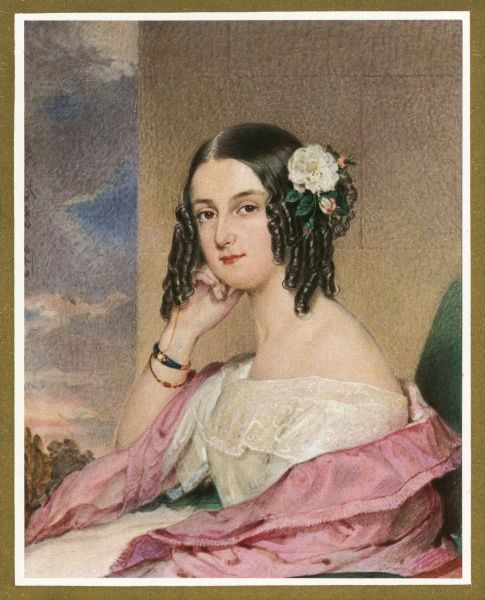 A pretty young Viennese woman with her hair in ringlets. Date: circa 1830s