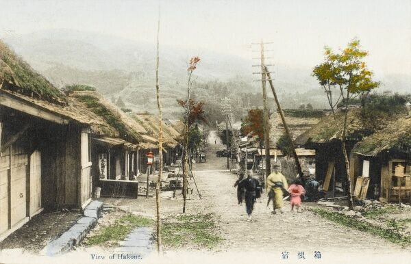A view of a street in Hakone, Japan - Hakone is in the Kanagawa Prefecture, in Ashigarashimo District, located on the eastern foot of Hakone Pass