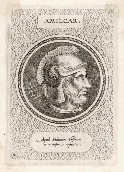 HAMILCAR Carthaginian general, father of Hannibal