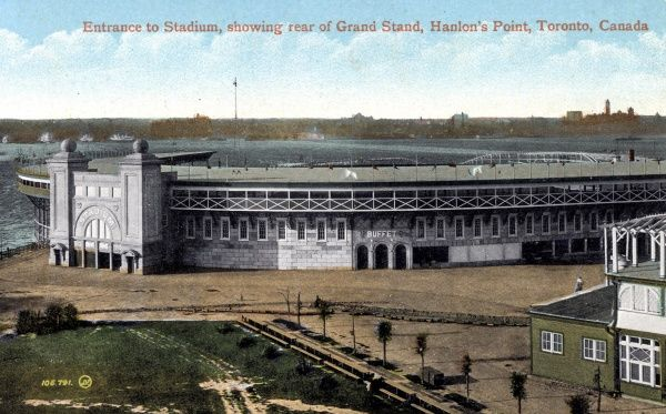 Grandstand at the Stadium, Hanlon's Point, Toronto, Canada 1911