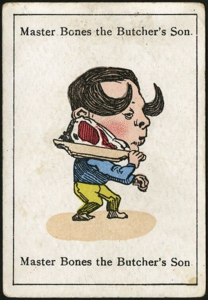 "Master Bones the Butcher's Son, from ""Happy Families"" devised in Britain by Mr Jacques in 1861"