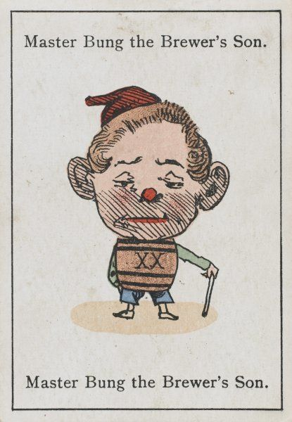 "Master Bung the Brewer's Son, from ""Happy Families"" devised in Britain by Mr Jacques in 1861"