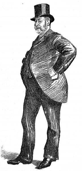 Illustration showing a London Coal Exchange trader, happily reflecting on a good day's business, 1890