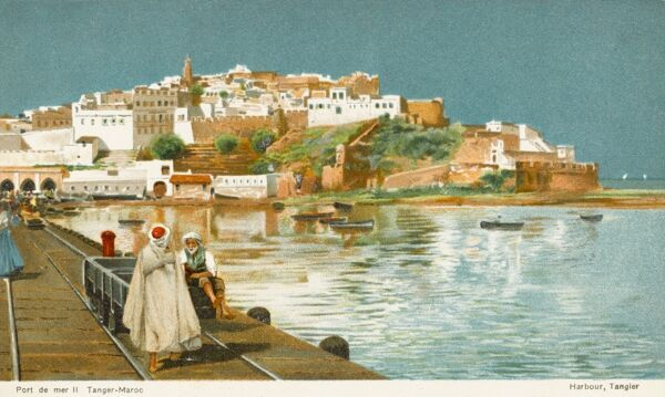 Harbour at Tangiers, Morocco