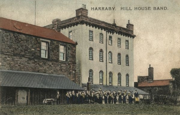 The boys band at Harraby Hill House, Carlisle - a home run by the Carlisle poor law union to house children away from the workhouse. The building was formerly St Cuthbert's parish workhouse. Date: 1904
