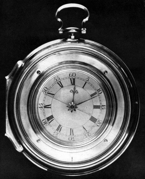 Harrison's number 5 timekeeper or chronometer for finding longitude (an improved version of the number 4). Date: circa 1760