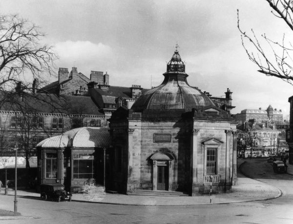 The Spa at Harrogate Pump Room, built in 1842 to house the sulphur well. It was designed by Isaac Shutt. No longer functioning, it has been a museum since 1953. Date: built 1842